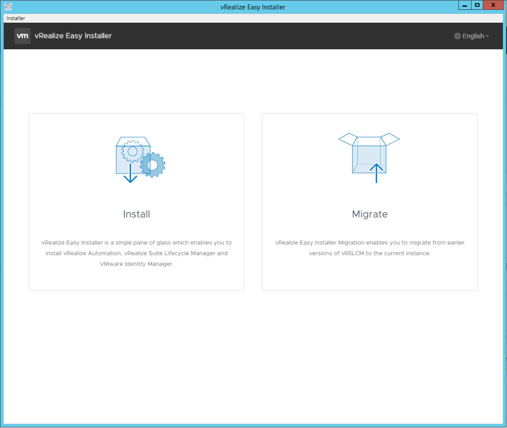 vRealize Easy Installer Page 1