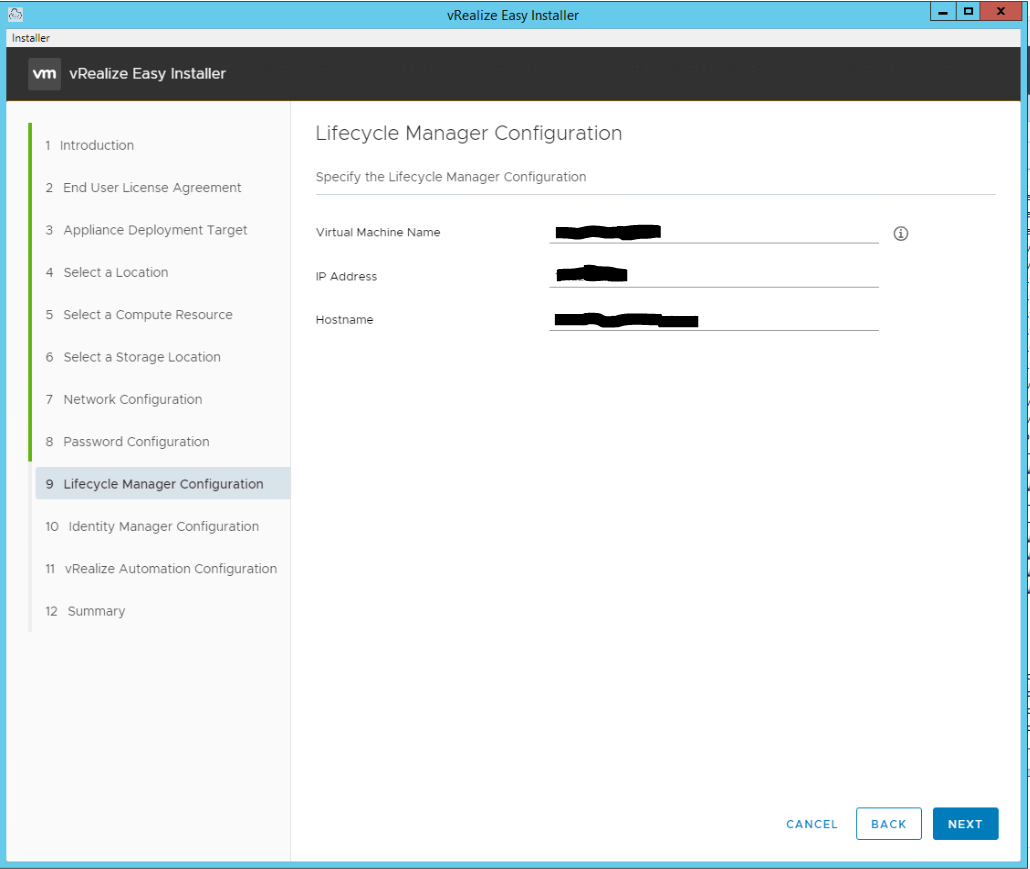 vRealize Easy Installer Page 10