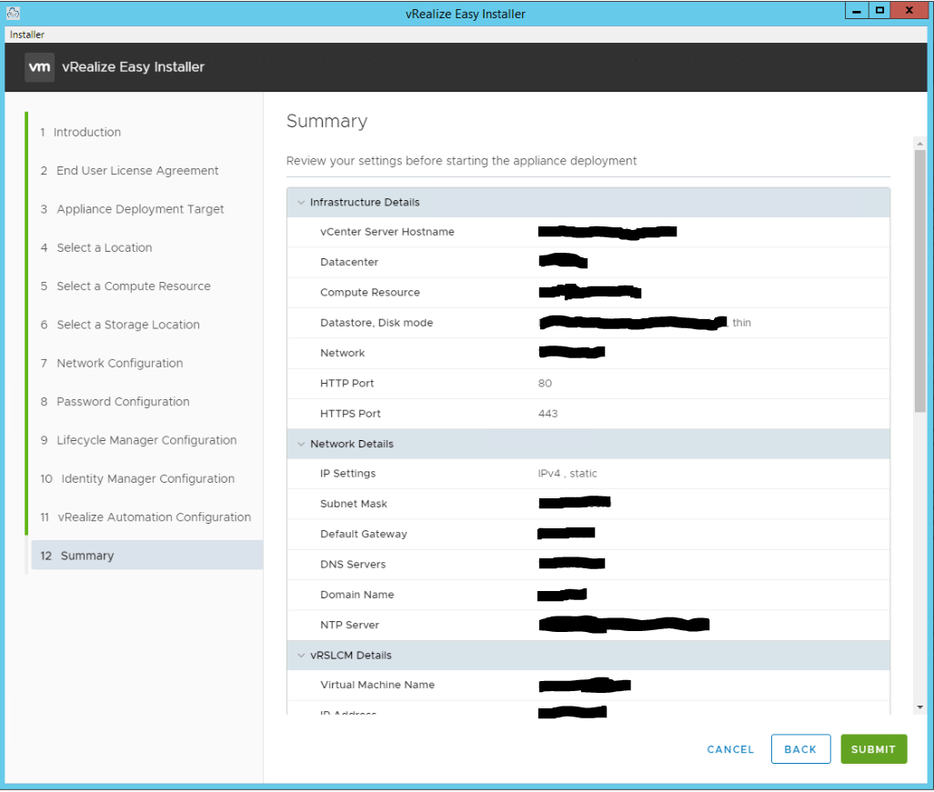 vRealize Easy Installer Page 13