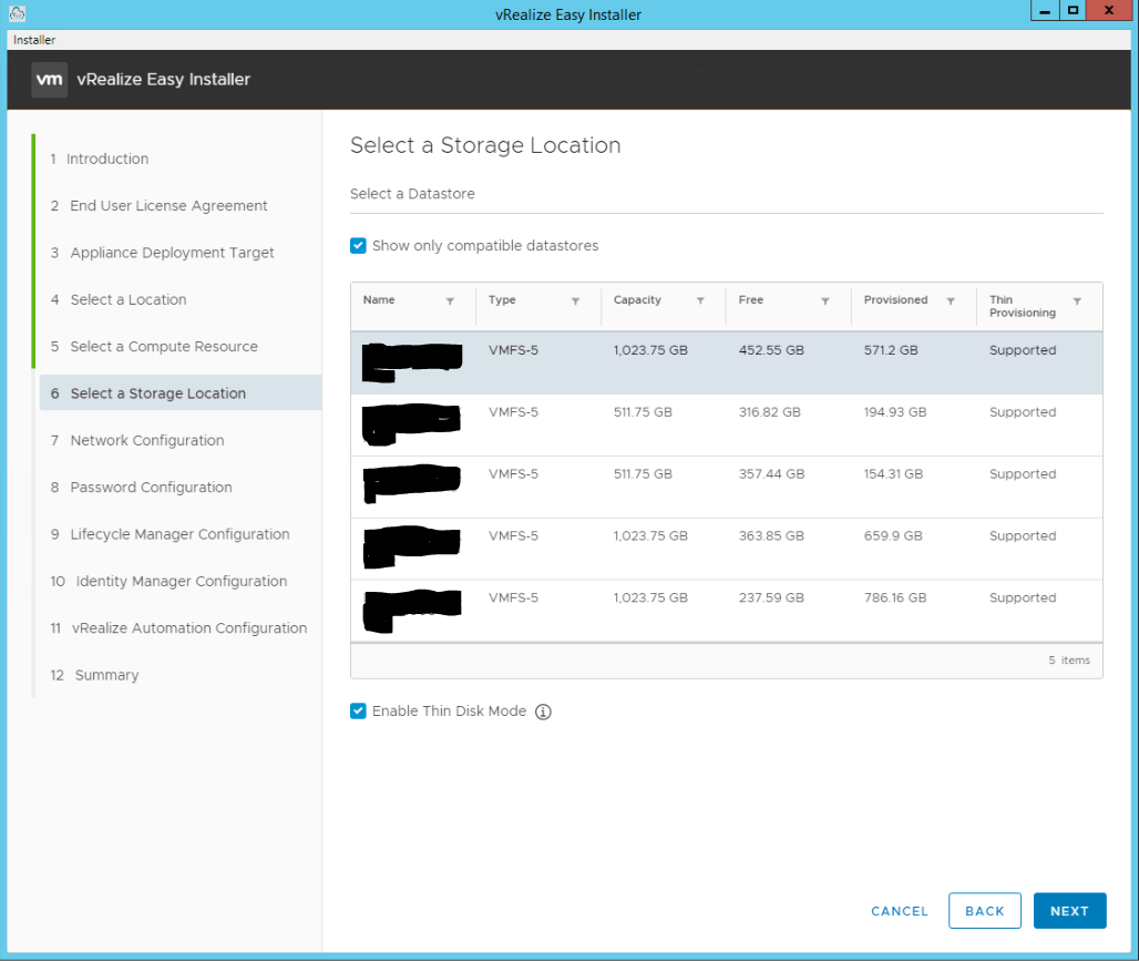 vRealize Easy Installer Page 7