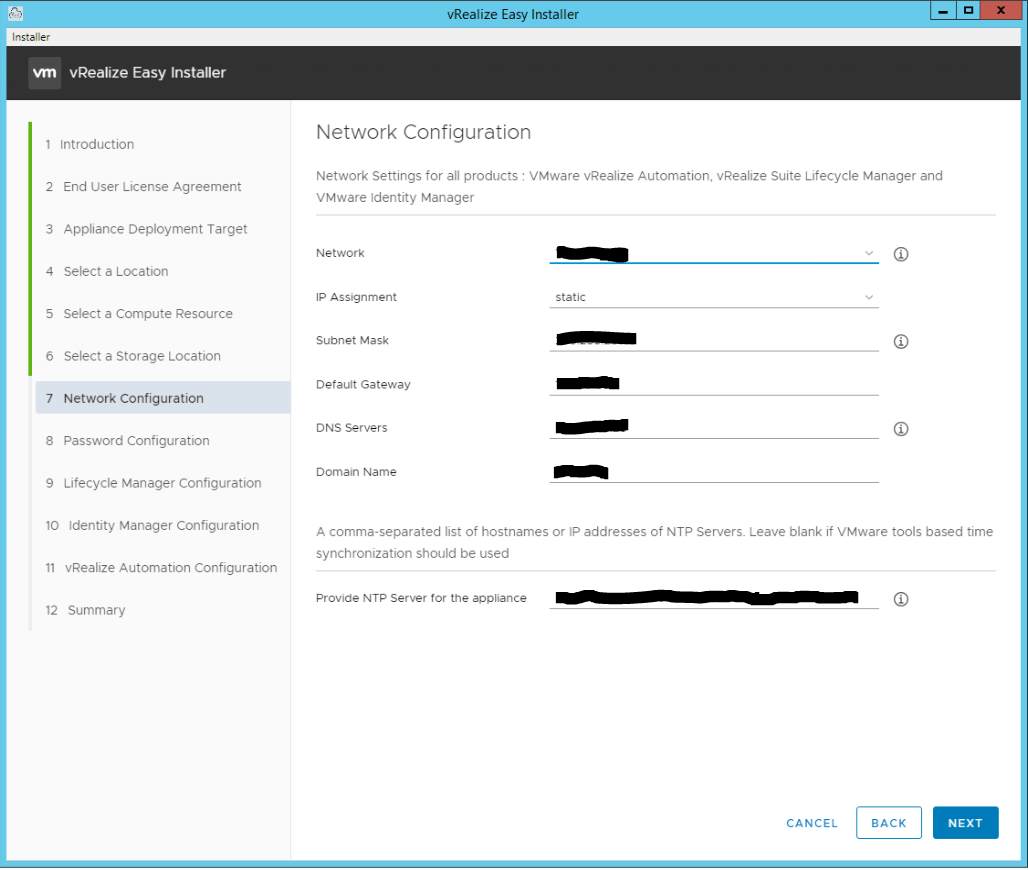 vRealize Easy Installer Page 8