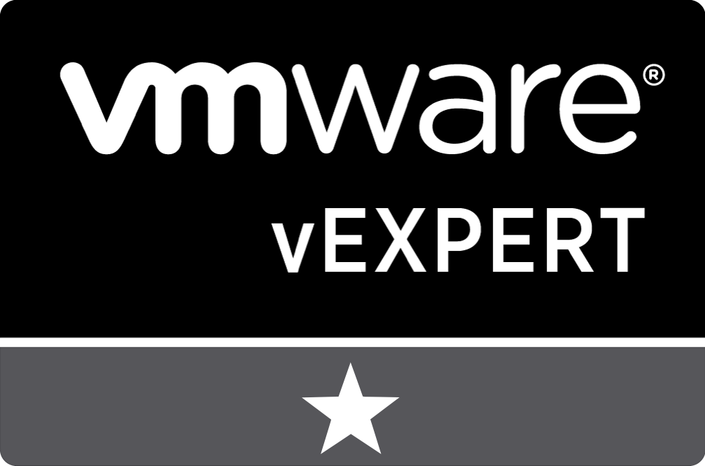vExpert 1 Star for 1 year of being vExpert