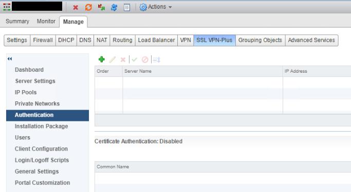NSX SSL VPN Authentication Before