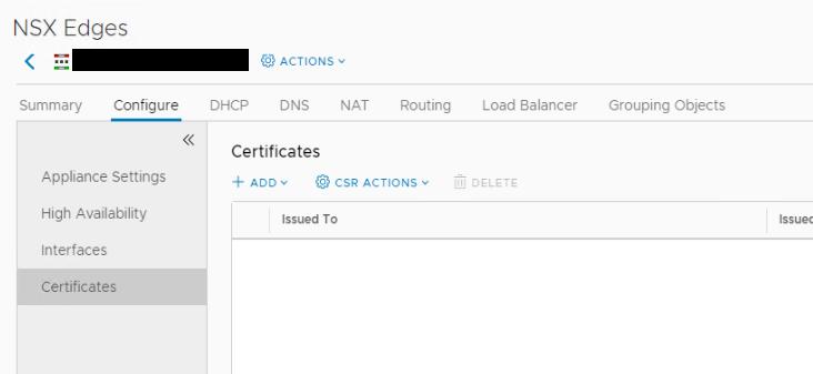 NSX SSL VPN Certificates Before