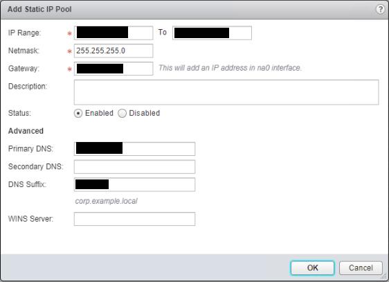 NSX SSL VPN Add IP Pool