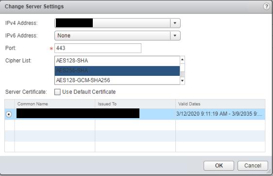 NSX SSL VPN Change Server Settings