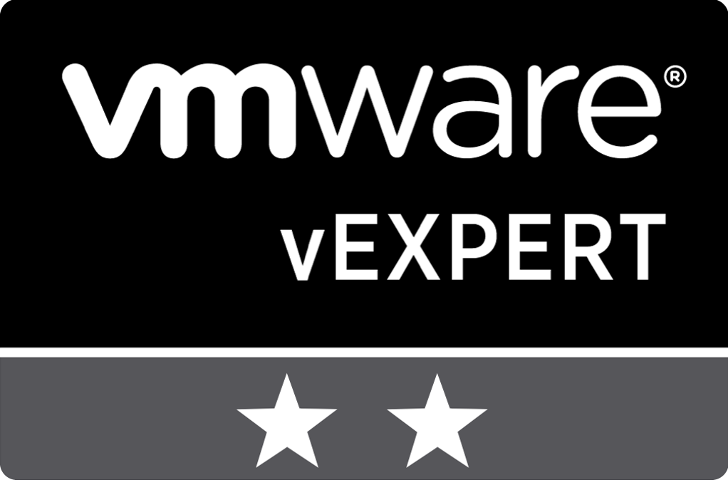 vExpert 2 Stars for 2 years of being vExpert